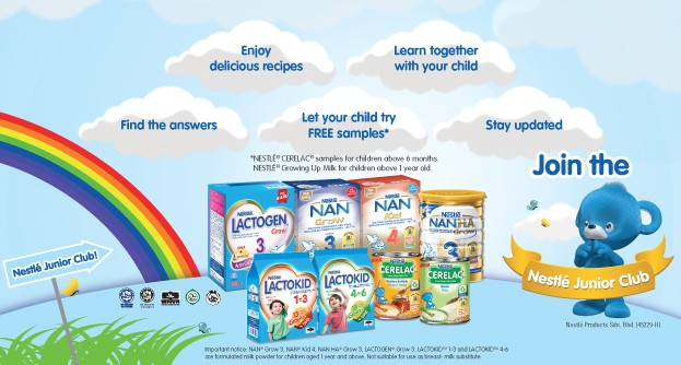 Free Sample at Nestle Junior Club Malaysia 1