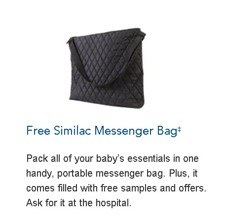 Free Similac Messenger Bag