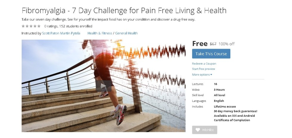 Free Udemy Course on Fibromyalgia - 7 Day Challenge for Pain Free Living & Health 1
