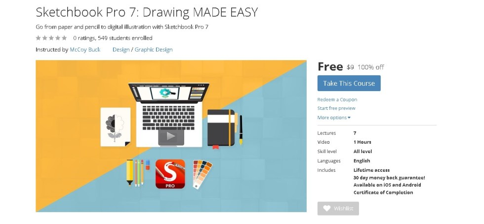 Free Udemy Course on Sketchbook Pro 7 Drawing MADE EASY  1