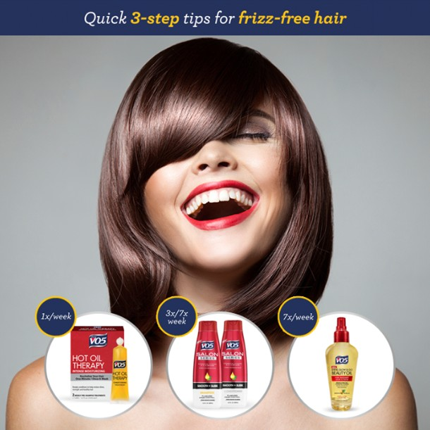 Free VO5 frizz fighting products for your frizzy hair