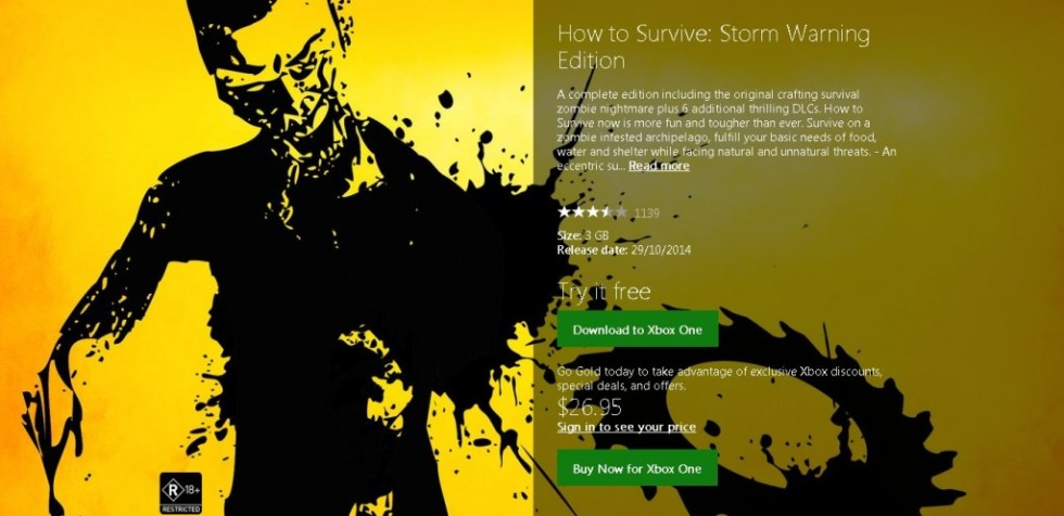 Free Xbox One How to Survive Storm Warning Edition