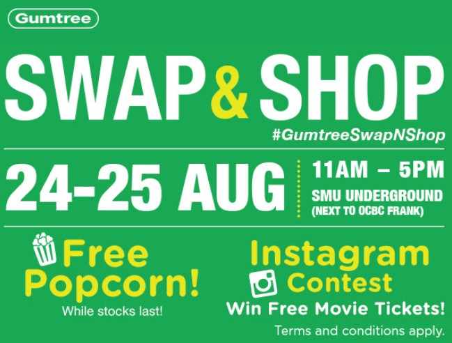 Gumtree Swap & Shop- Free Popcorn & Win Movie Tickets