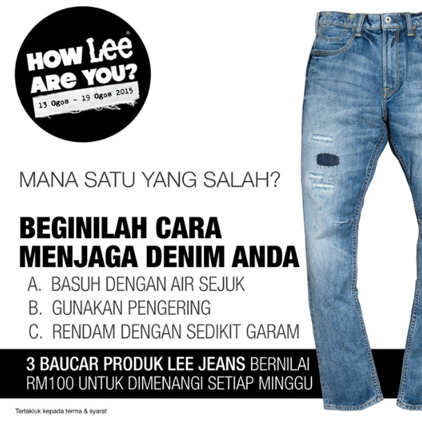 How Lee are you Contest at Lee Jeans Malaysia