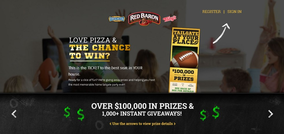 Over $100,00 in prizes & 1,000+ Instant Giveaway @ Tailgate at Your Place