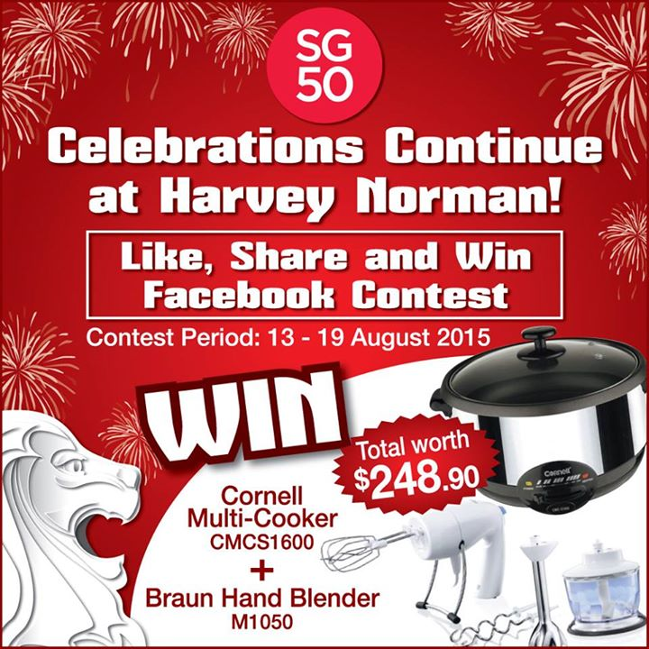 #SG50 Celebrations Continue at Harvey Norman Singapore