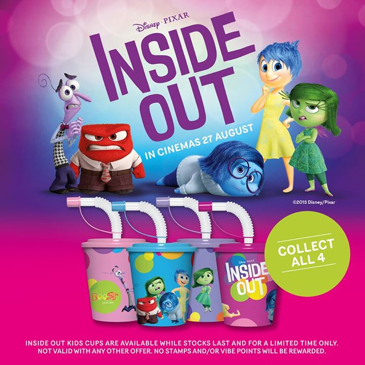 WIN Disney•Pixar's Inside Out premiums at Boost Juice Bars Singapore