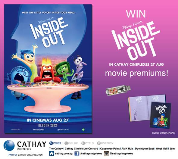Win INSIDE OUT (8GB USB Drive & Notebook) movie premiums at Cathay Cineplexes Singapore 1