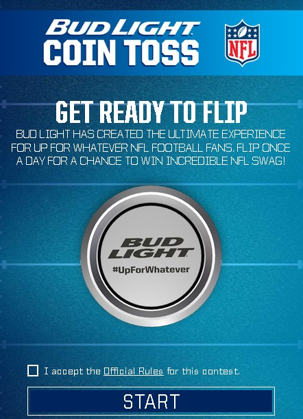 Win Incredible NFL Swag at Bud Light Coin Toss