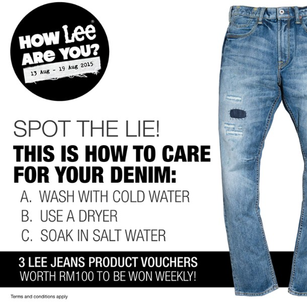 Win Vouchers at Lee Jeans Malaysia