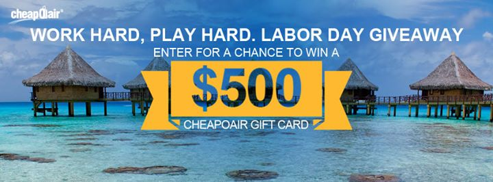 Win a $500 CheapOair Gift Card