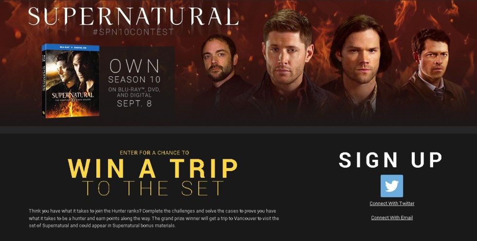 Win a Trip To the Set at SuperNatural