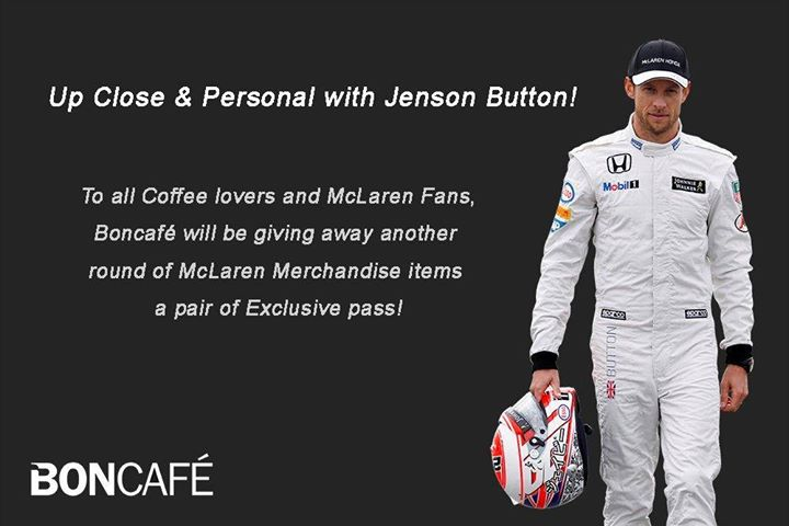 Win an Exclusive Jenson Button Meet & Greet Pass at Boncafe Singapore