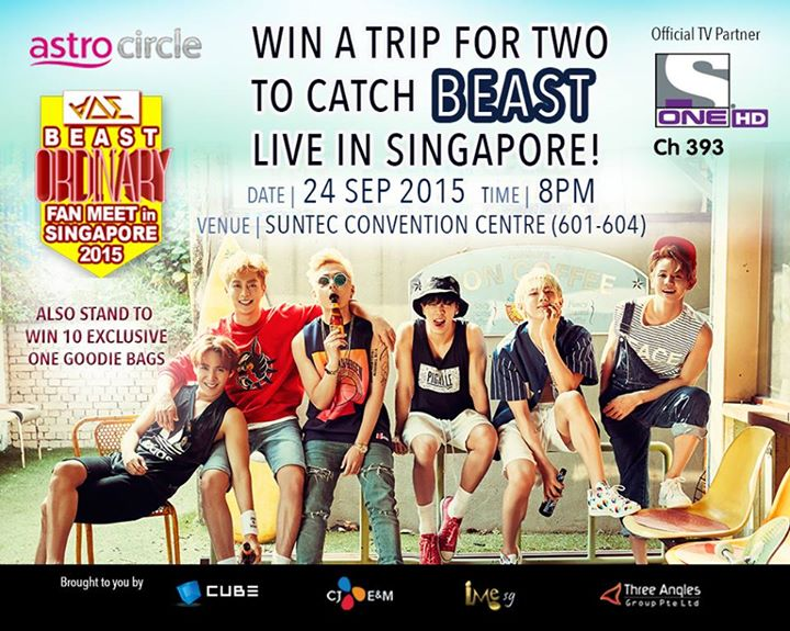 ASTRO Malaysia WIN A Trip For Two to Catch BEAST Live in Singapore