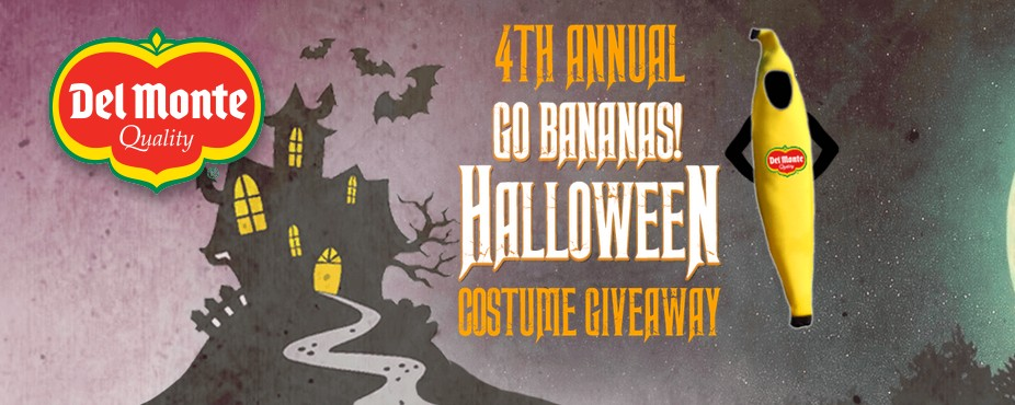 Del Monte USA 4th Annual Go Bananas! Halloween Costume Giveaway
