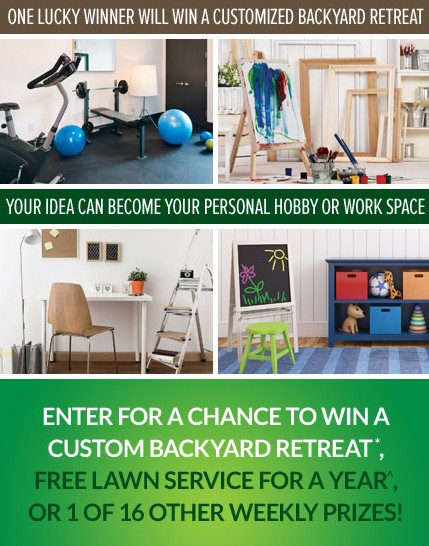 Enter For A Chance to WIN A Custom Backyard Retreat at Scotts Lawn Service USA
