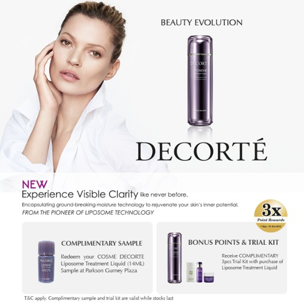 FREE COSME DECORTE Liposome Treatment Liquid (14ml) at Parkson Malaysia