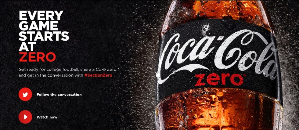 FREE Coke Zero™ EVERY GAME STARTS AT ZERO
