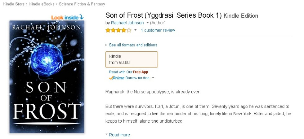 FREE  Son of Frost (Yggdrasil Series Book 1) Kindle Edition @ Amazon