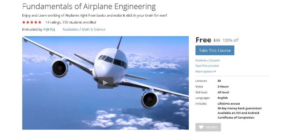 FREE Udemy Course on Fundamentals of Airplane Engineering  (2)