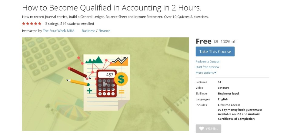 FREE Udemy Course on How to Become Qualified in Accounting in 2 Hours 1