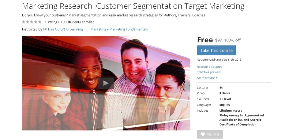 FREE Udemy Course on Marketing Research Customer Segmentation Target Marketing  1