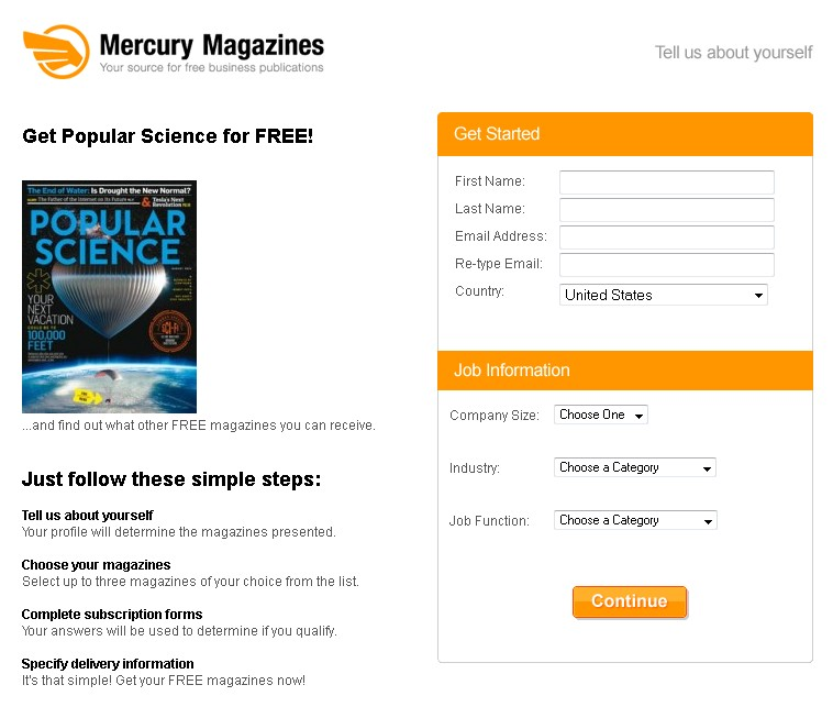 Get Popular Science Magazine for FREE 1