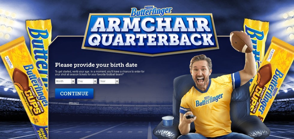 Nestle Butterfinger Armchair Quarterback Sweepstakes