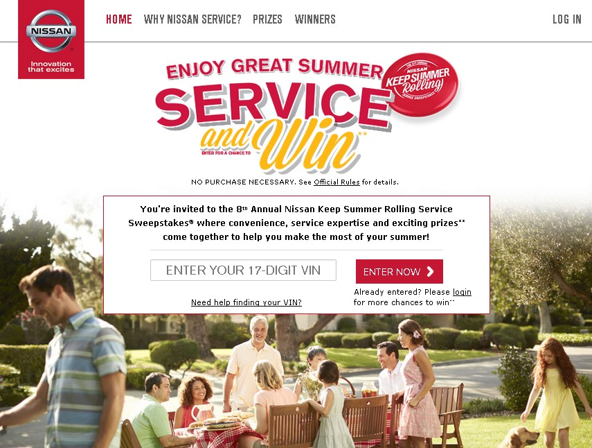 Nissan USA Enjoy Great Summer Service and WIN!