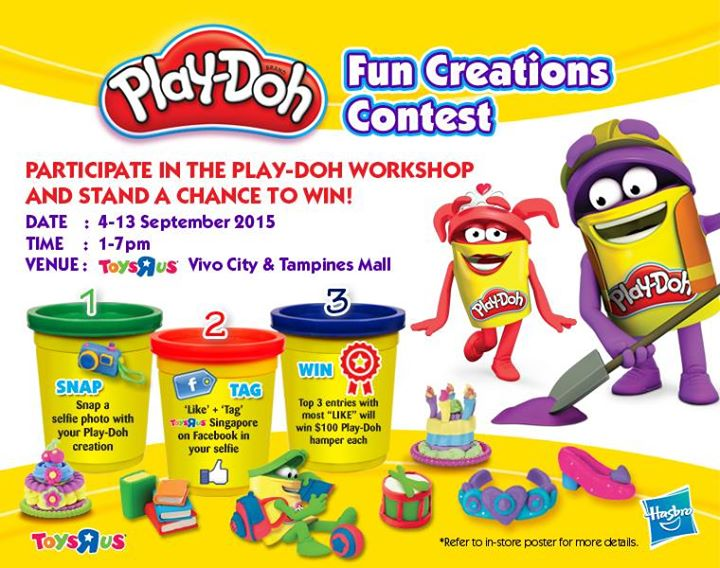 Take part in the Play-doh workshop and stand a chance to win at Toys R Us Singapore