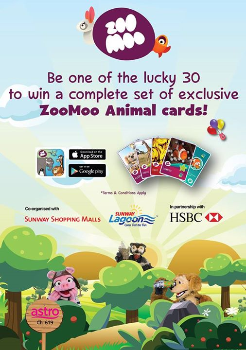 WIN ZooMoo animal cards at Sunway Pyramid Malaysia