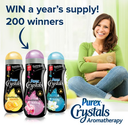 Win 12 bottles of Purex Crystals Aromatherapy