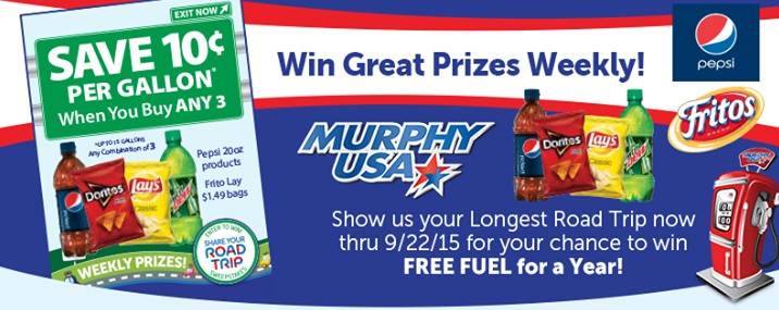Win FREE FUEL for a YEAR at Murphy USA