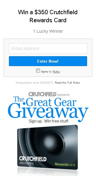 Win a $350 Crutchfield Rewards Card (2)