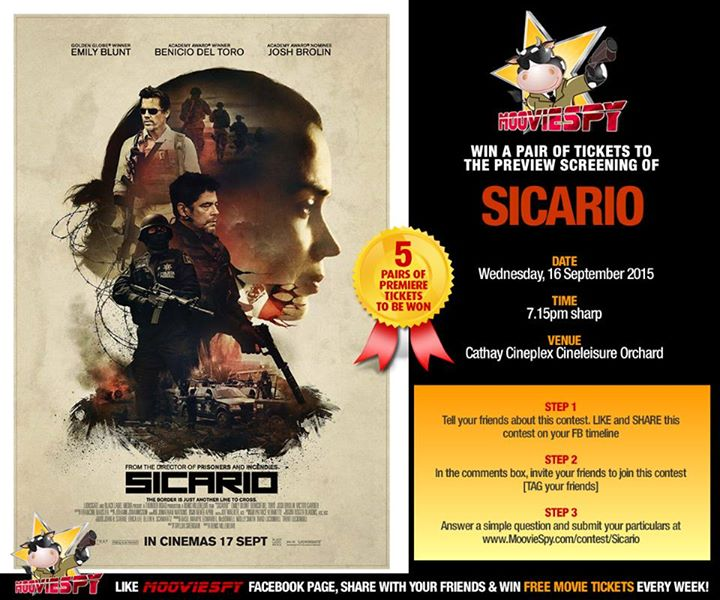 Win a pair of tickets to the preview screening of SICARIO