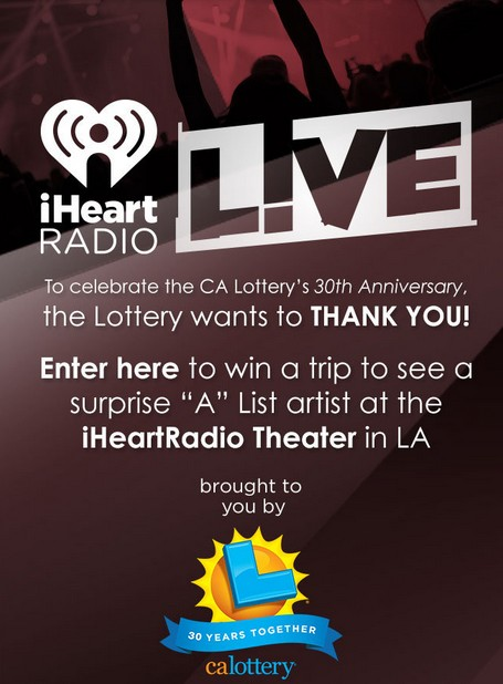 Win a trip to see a surprise A List artist at the iHeartRadio Theater in LA
