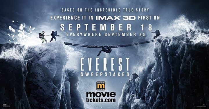 Win an Everest prize pack and a $500 Fandango gift card at Universal Studios Entertainment