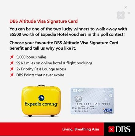 A chance to win S$500 Expedia Hotel Vouchers by taking part in this simple poll