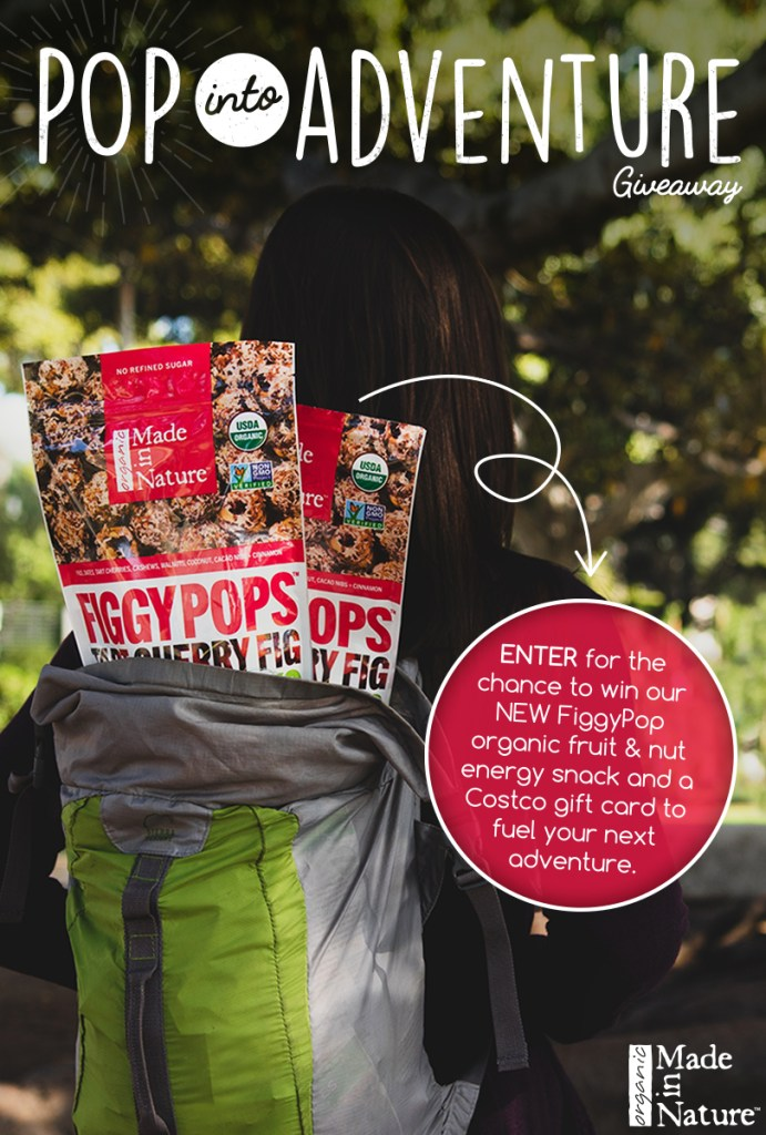 Enter for the chance to win a NEW FiggyPop Organic Fruit & Nut Energy Snack and a Costco gift card