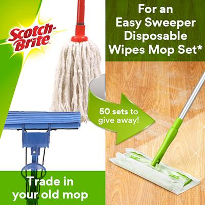 FREE Easy Sweeper Disposable Wipes Mop Set worth $18.95 at Scotch-Brite