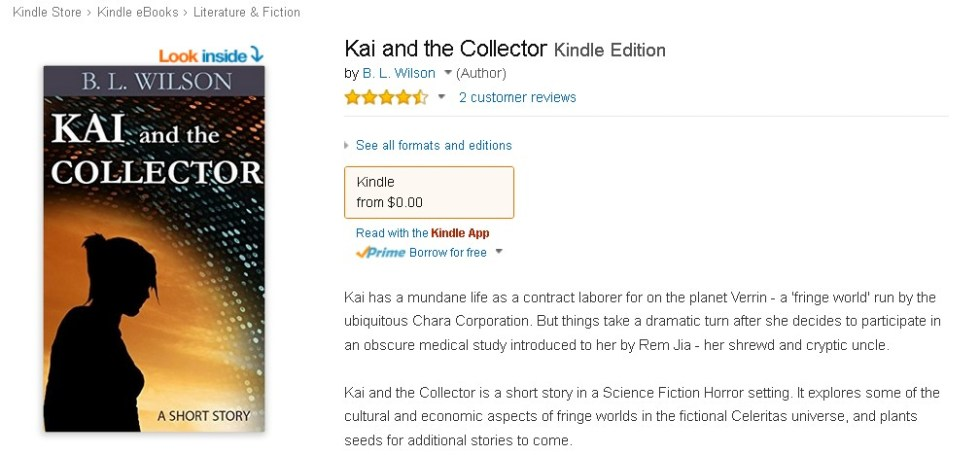 FREE  Kai and the Collector Kindle Edition at Amazon