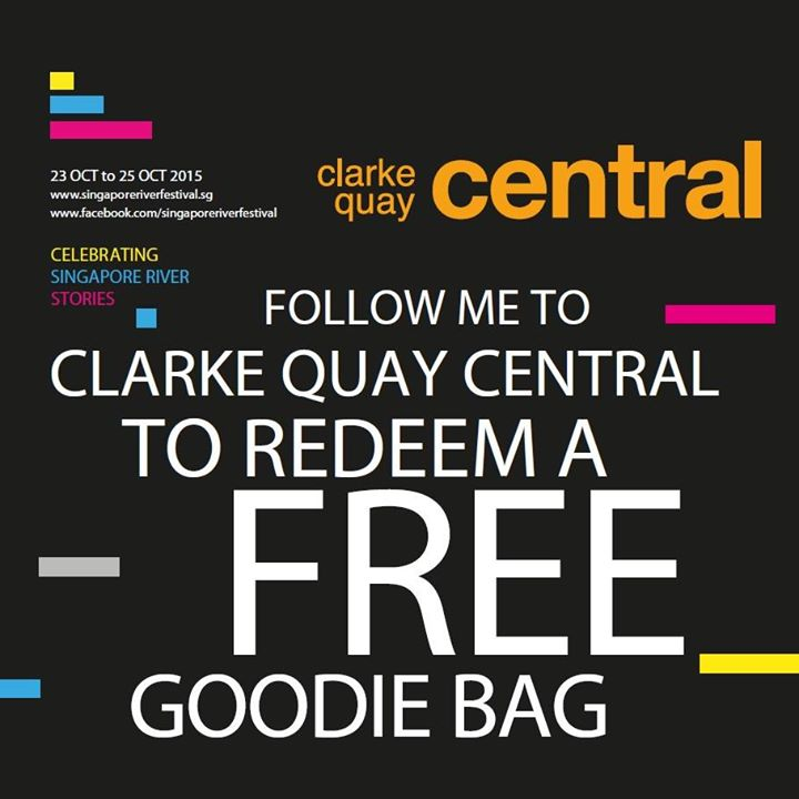 FREE Singapore River Festival goodie bag at Clarke Quay Central