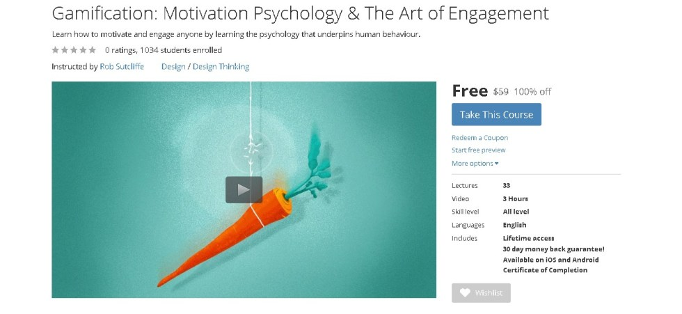 FREE Udemy Course on Gamification Motivation Psychology & The Art of Engagement