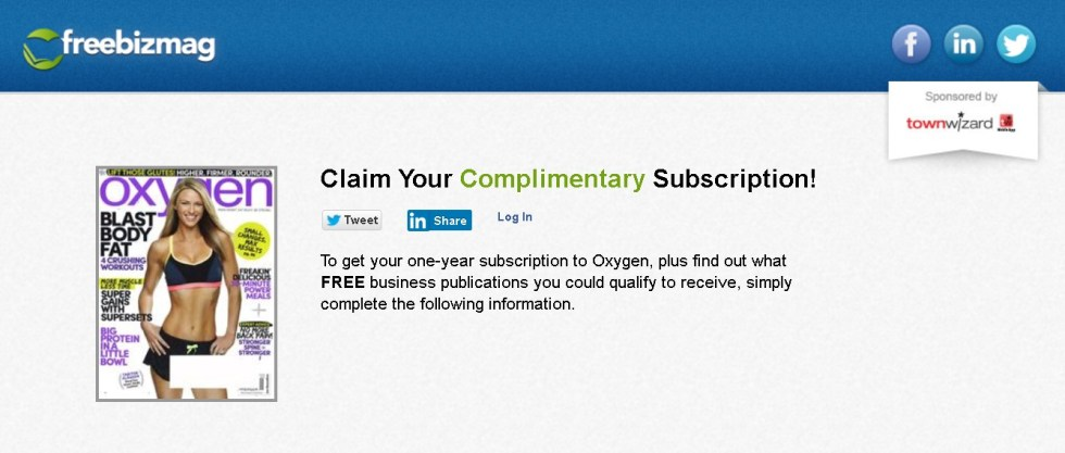 FREE one-year subscription to Oxygen Magazine