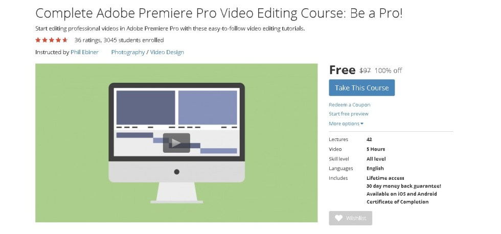 Free Udemy Course on Complete Adobe Premiere Pro Video Editing Course Be a Pro!  (2)