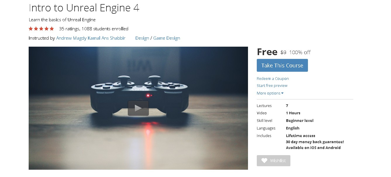 Free Udemy Course on Intro to Unreal Engine 4 - #GIFTOUT #FREE