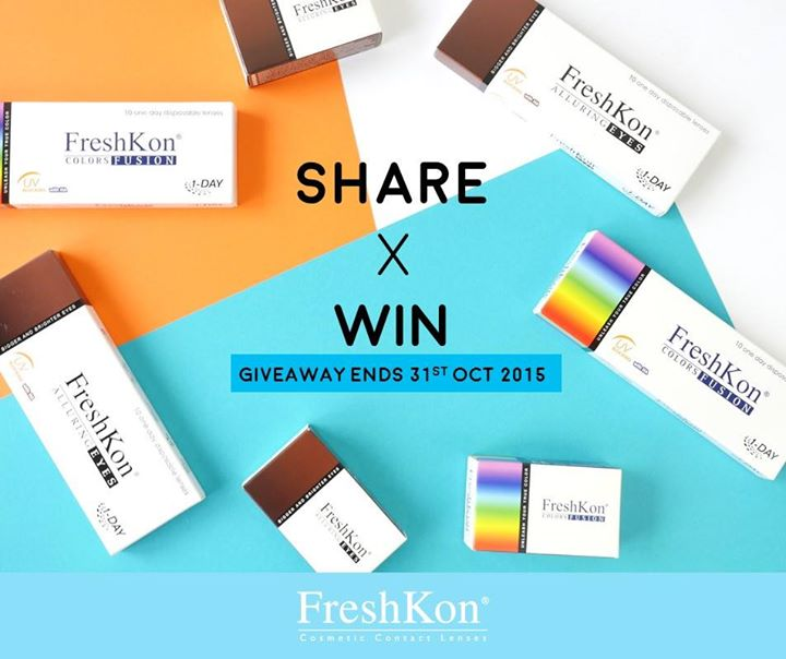 Giving away 2 boxes of FreshKon® Cosmetic 1-DAY lenses 10pcs pack