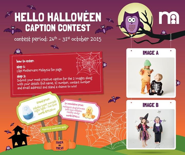 Hello Halloween Caption Contest at Mothercare Malaysia