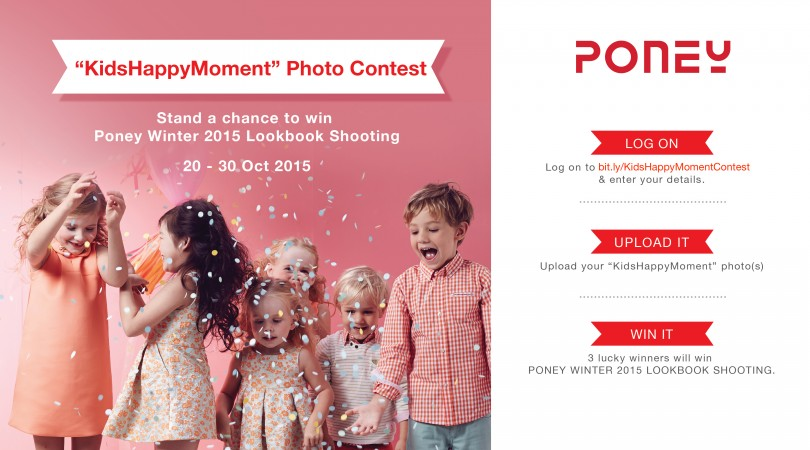 Kids Happy Moment Photo Contest at Poney Malaysia