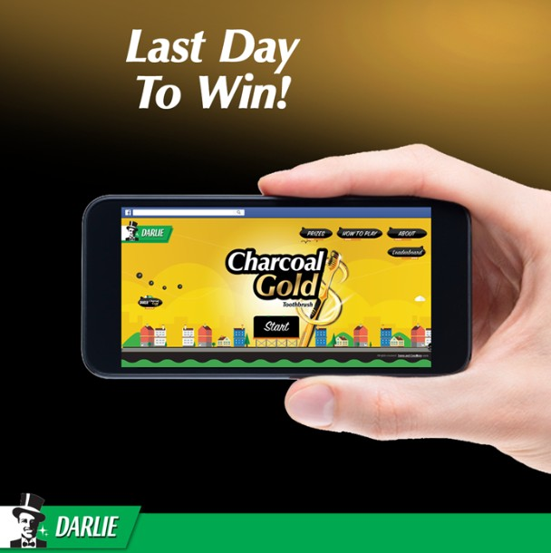 Last Day to win at Darlie Malaysia Gold Rush Game